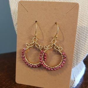 Artisan Pink Dangle Earrings